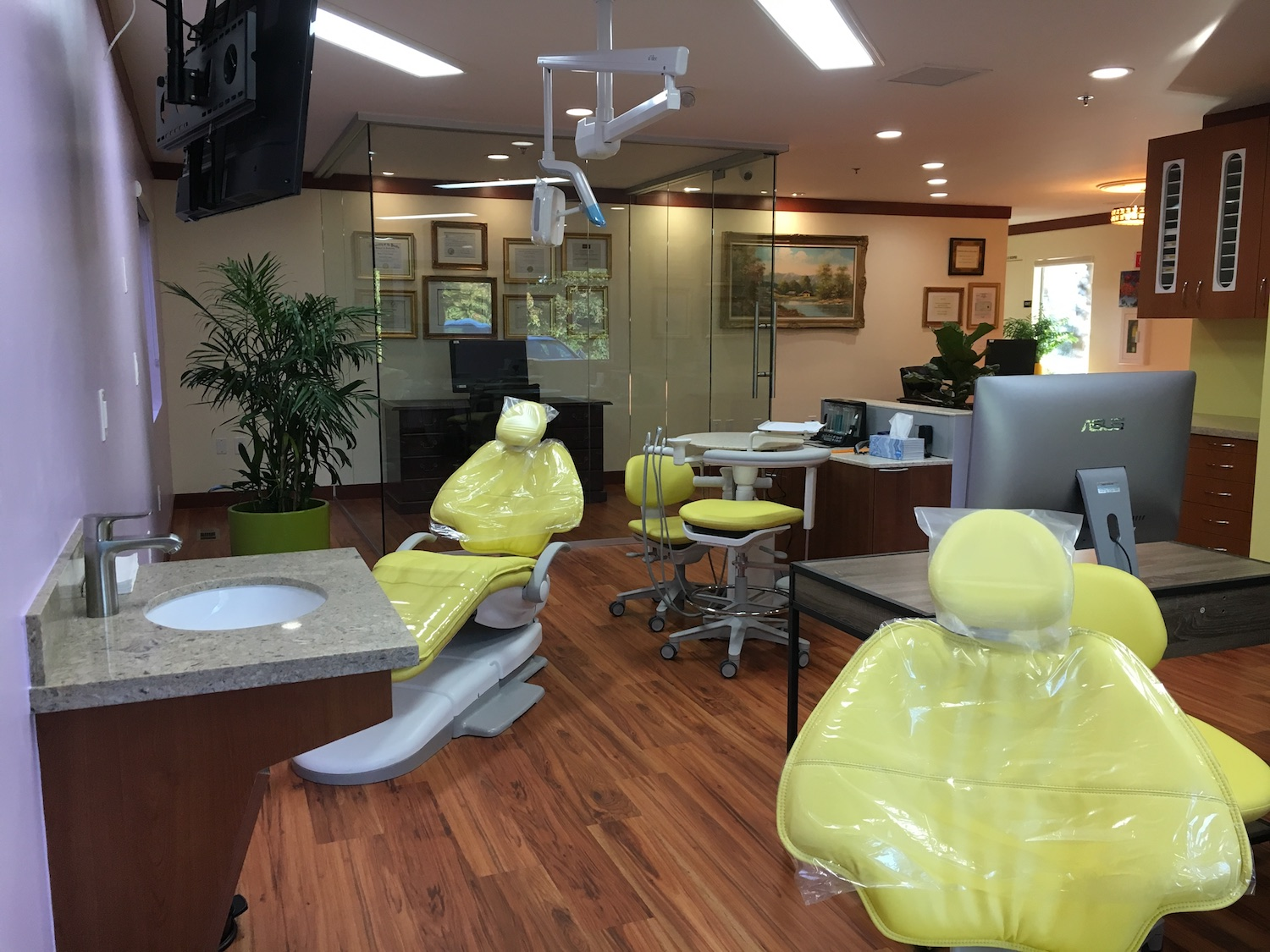 new chairs dental office