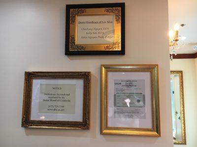 Dr. Nguyen Certificates