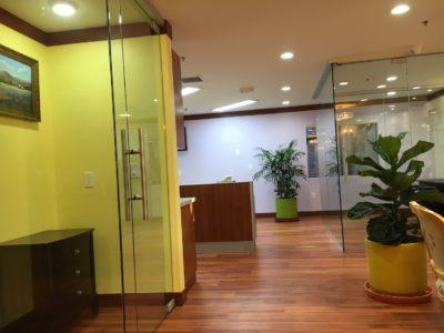 glass door dental office